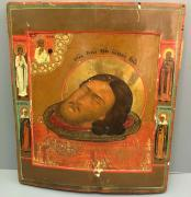 Икона Глава Иоанна Предтеча 19 век