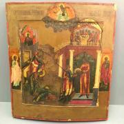 Икона Усекновение Главы Иоанна Предтечи 19 век