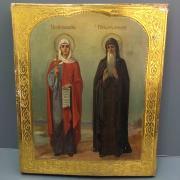 икона образ Святых Праскевы и Иоанна 19 век