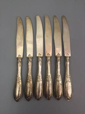 Десертные серебряные ножи