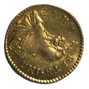 Царская золотая монета Полтина 1756 год