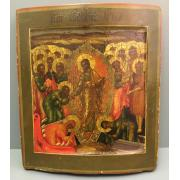 Икона Воскресение Христово 19 век