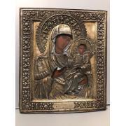 Иверская Пресвятая Богородица, серебро.