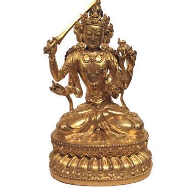 Буддийская статуэтка Мандзушри